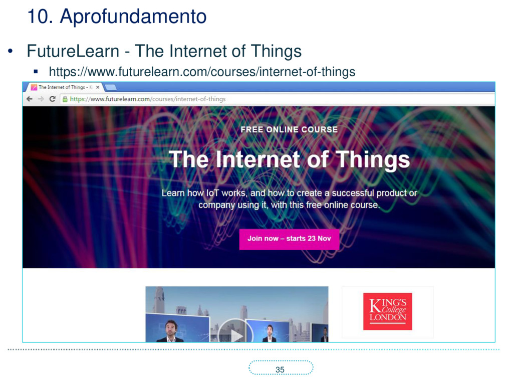 35 10. Aprofundamento • FutureLearn - The Inter...