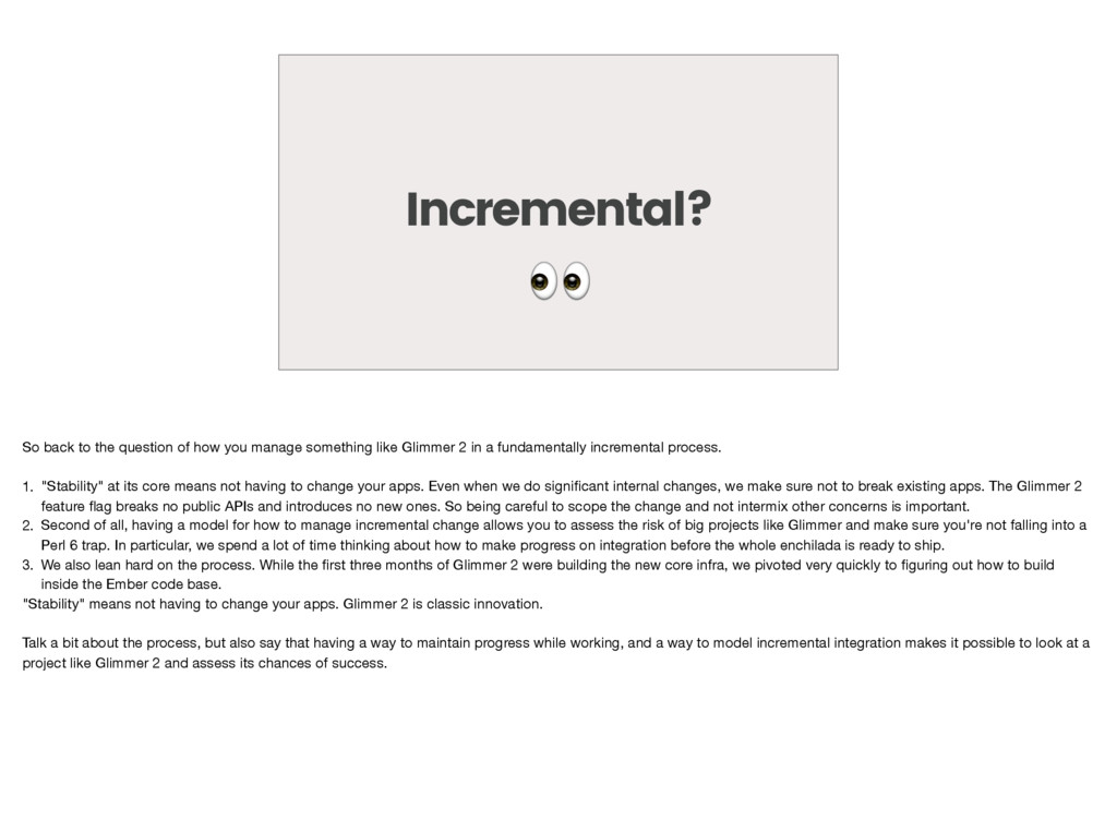 Incremental?  So back to the question of how yo...