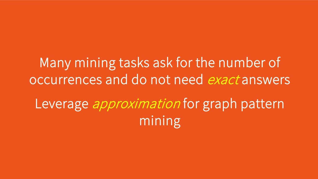Leverage approximation for graph pattern mining...