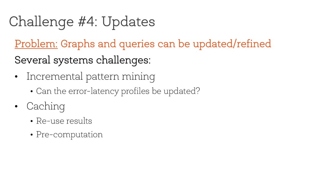 Challenge #4: Updates Problem: Graphs and queri...