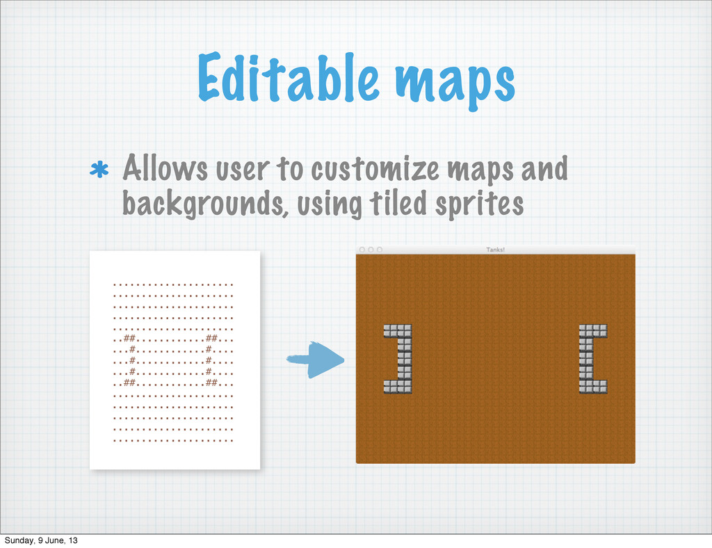Editable maps Allows user to customize maps and...