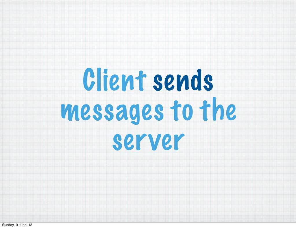 Client sends messages to the server Sunday, 9 J...