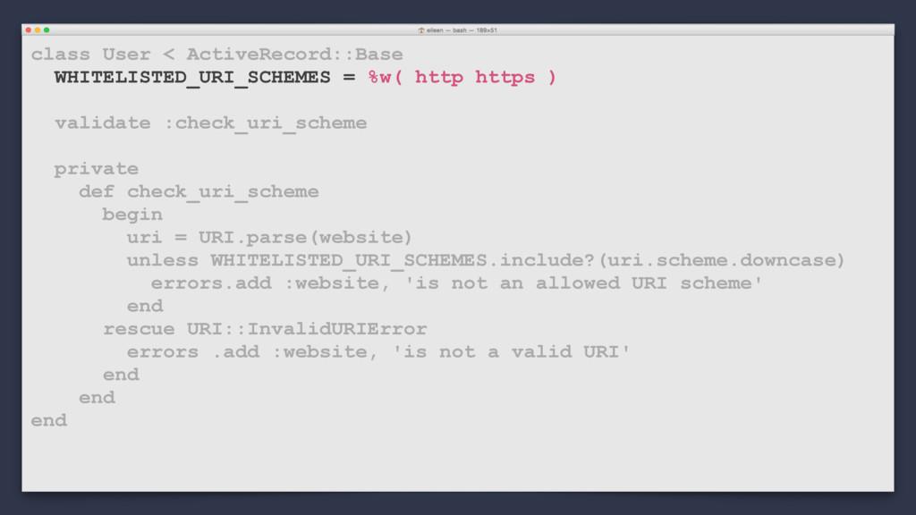 class User < ActiveRecord::Base WHITELISTED_URI...