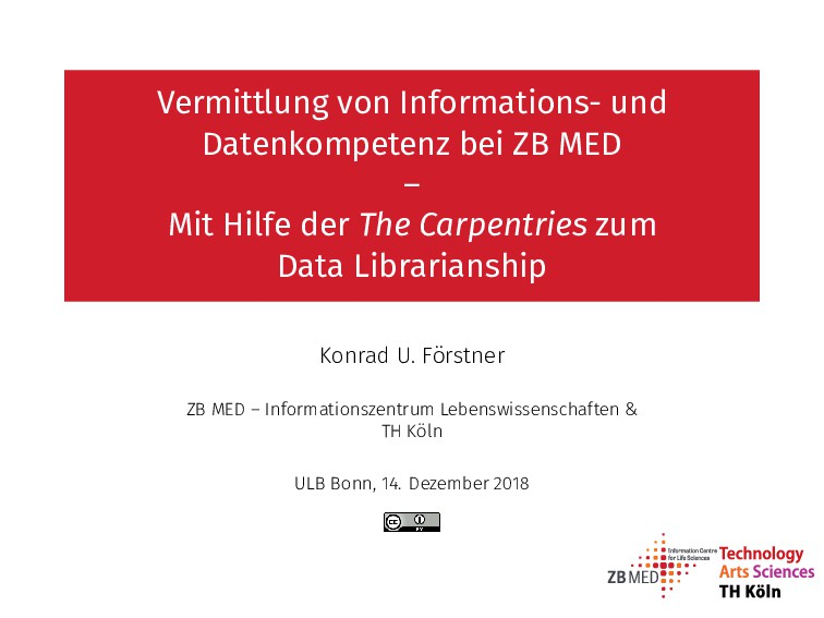 Vermittlung von Informations- und Datenkompeten...