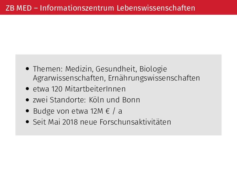 ZB MED – Informationszentrum Lebenswissenscha t...