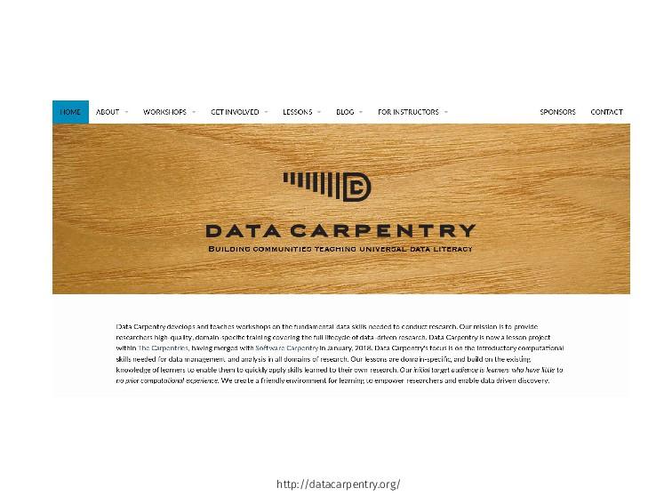 http://datacarpentry.org/