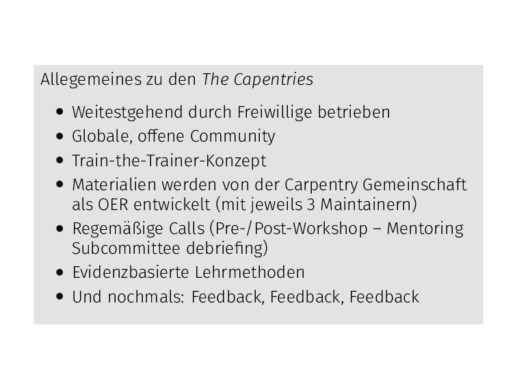 Allegemeines zu den The Capentries • Weitestgeh...