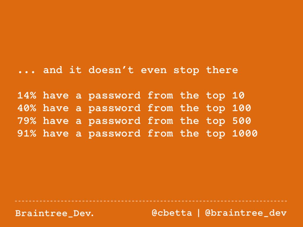 Braintree_Dev. @cbetta   @braintree_dev ... and...