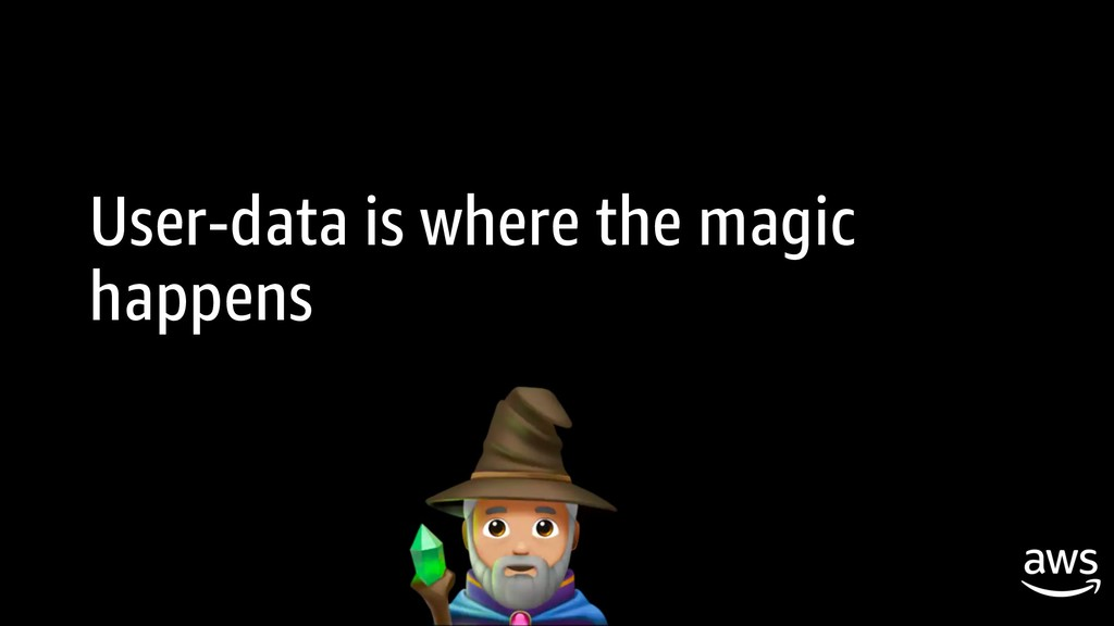 User-data is where the magic happens
