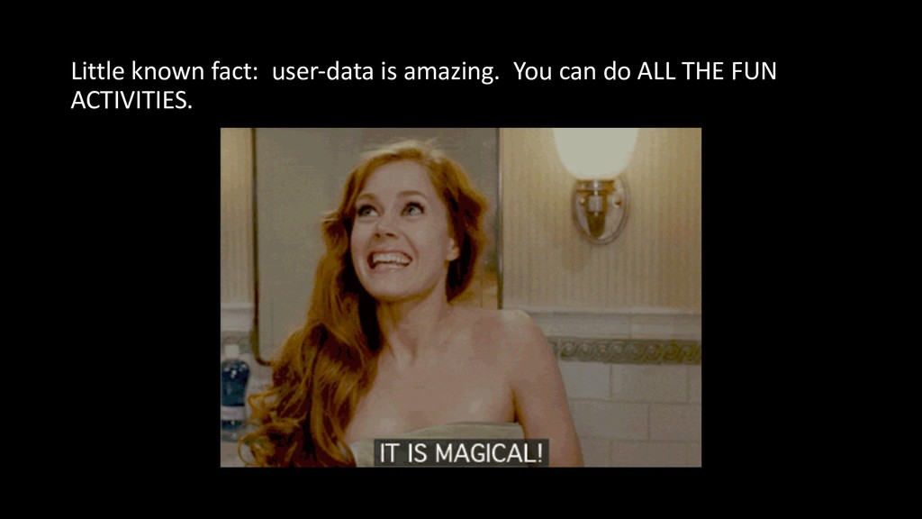 Little known fact: user-data is amazing. You ca...