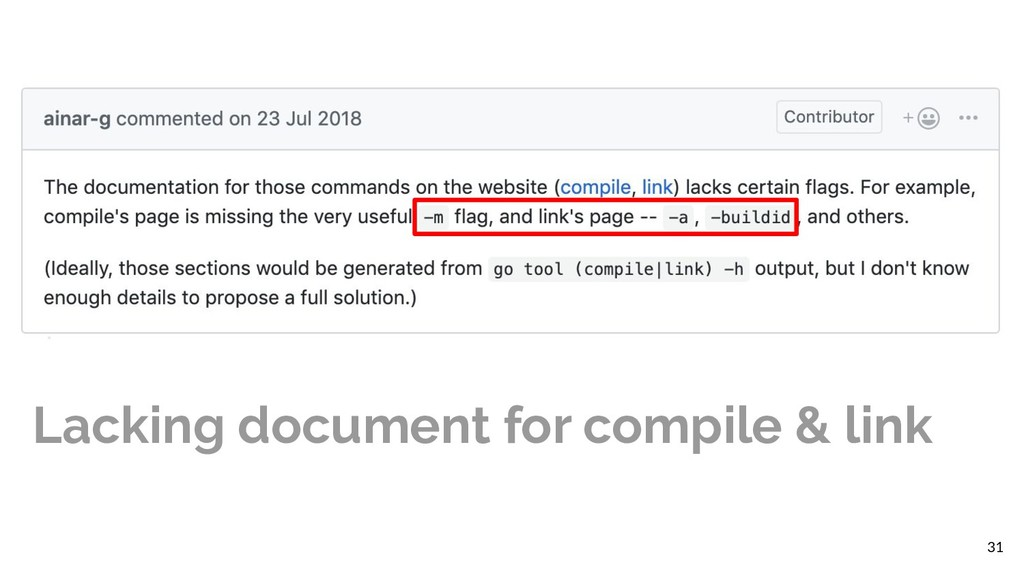 31 Lacking document for compile & link