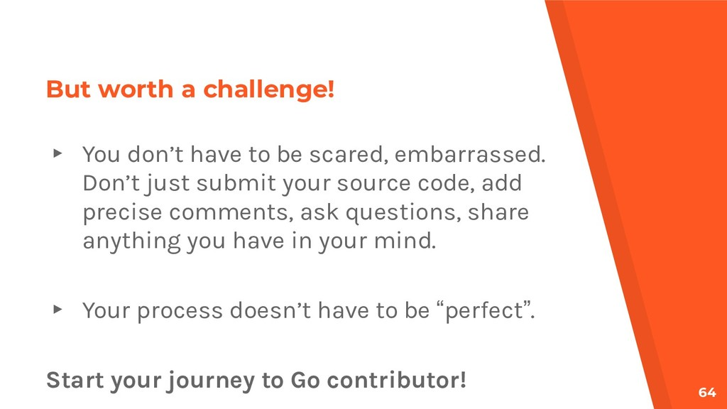 But worth a challenge! ▸ You don't have to be s...