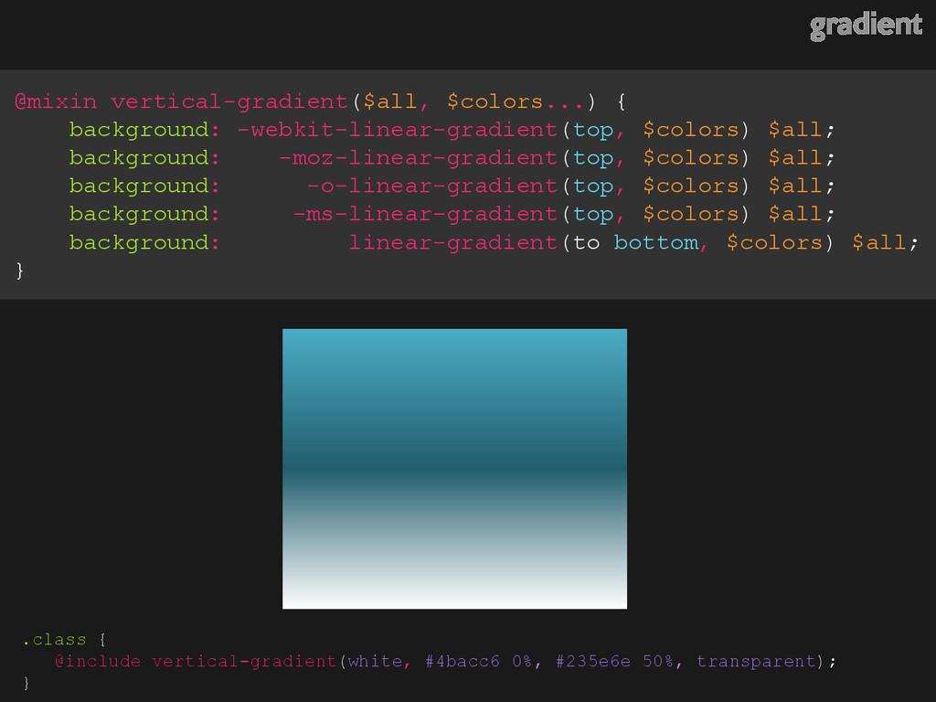 gradient @mixin vertical-gradient($all, $colors...
