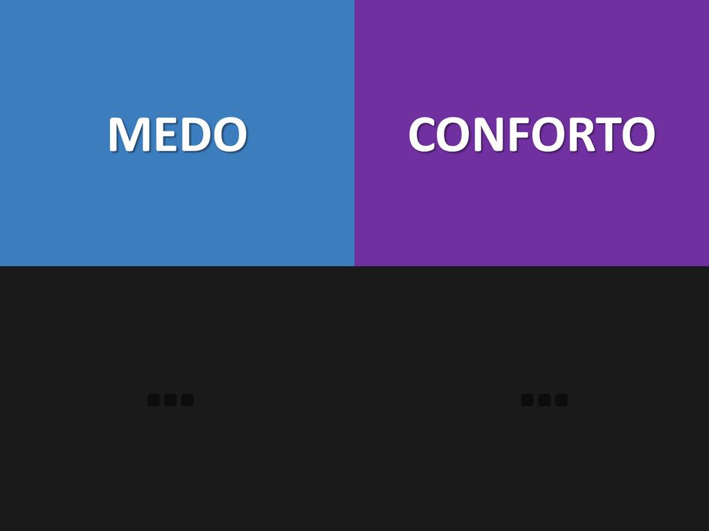 MEDO CONFORTO