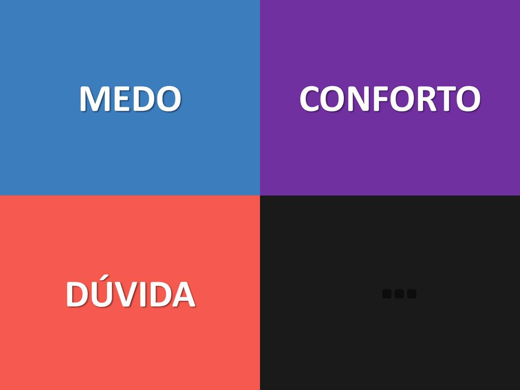 MEDO DÚVIDA CONFORTO