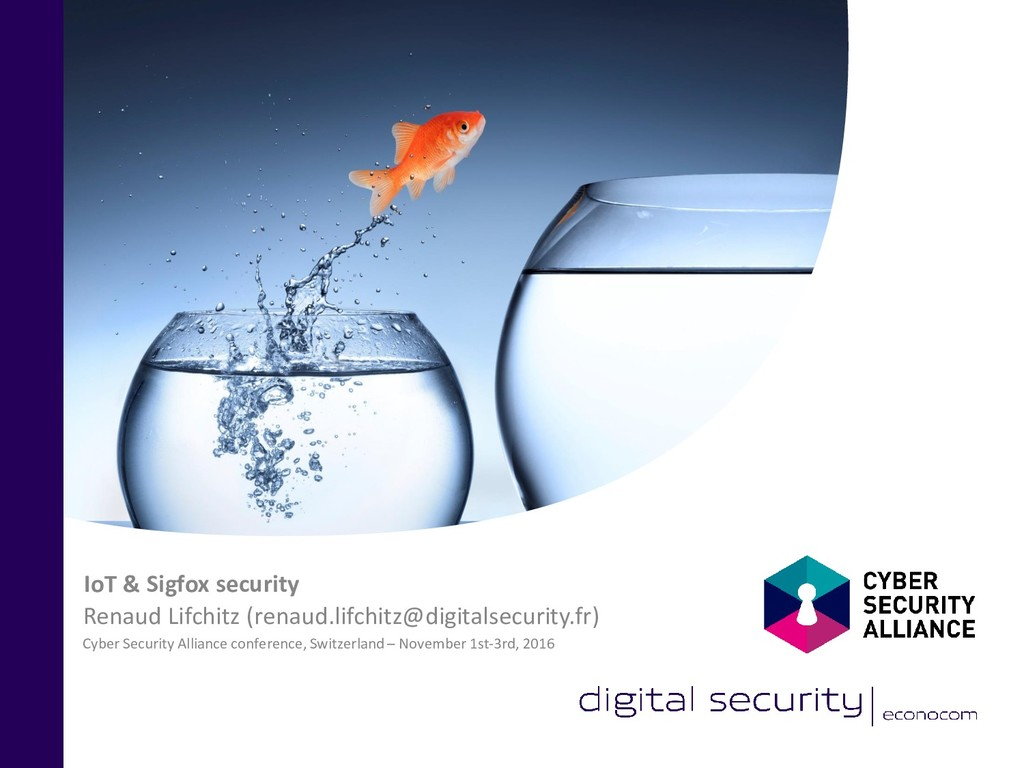 Cyber Security Alliance conference, Switzerland...