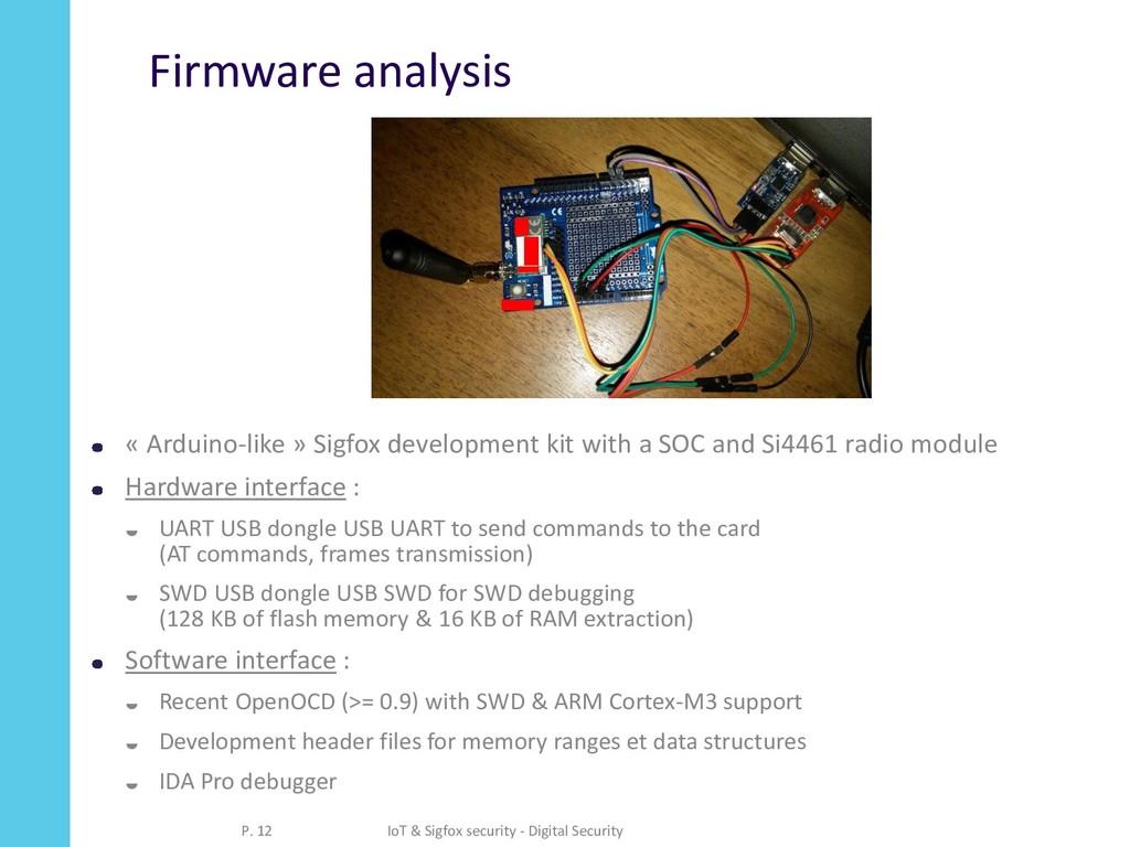 Firmware analysis « Arduino-like » Sigfox devel...