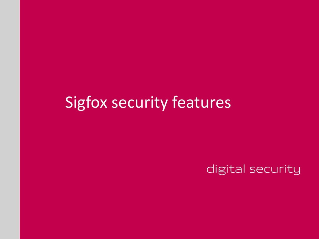 Sigfox security features