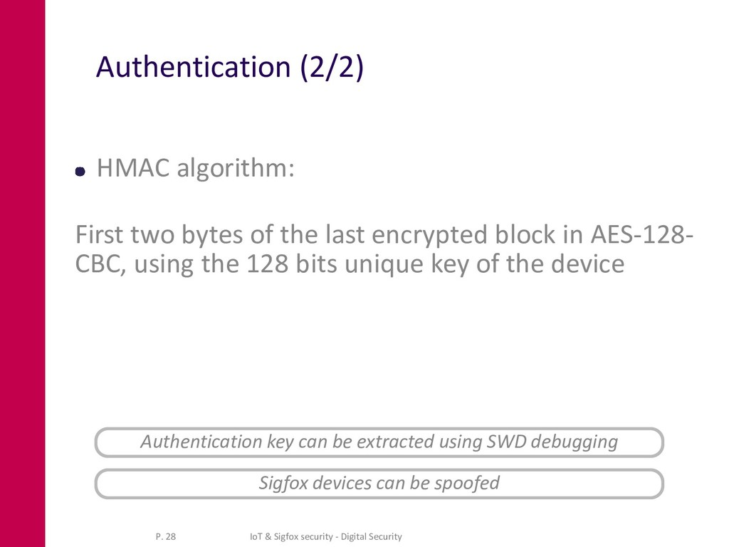 Authentication (2/2) HMAC algorithm: First two ...