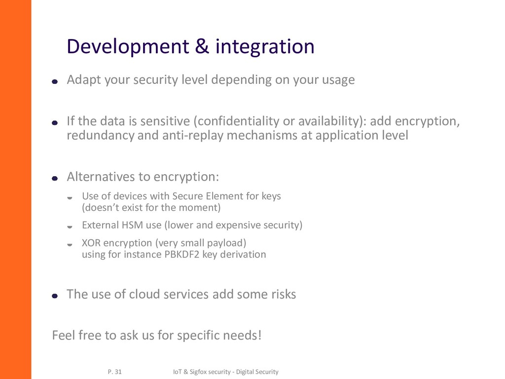 Development & integration Adapt your security l...