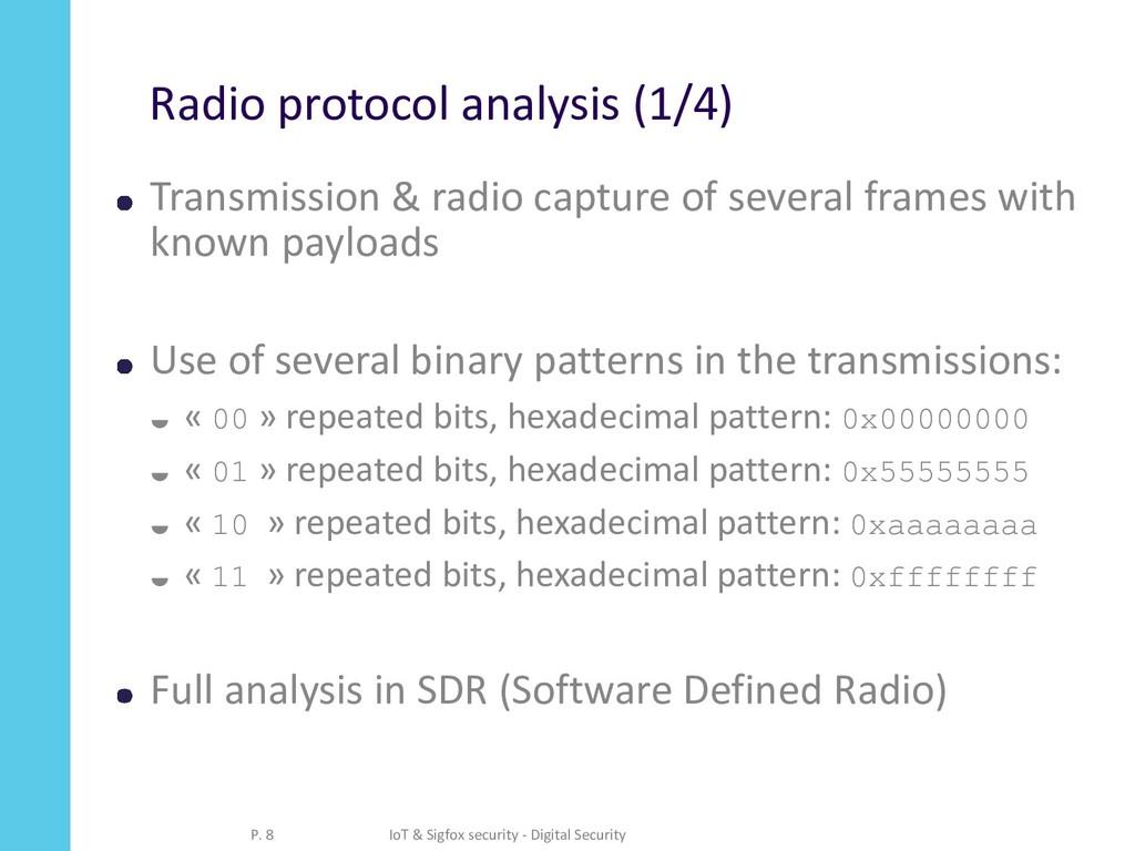 Radio protocol analysis (1/4) Transmission & ra...