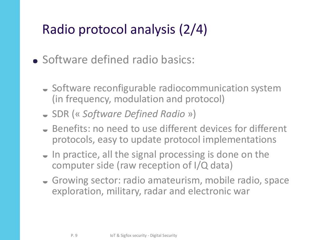 Radio protocol analysis (2/4) Software defined ...