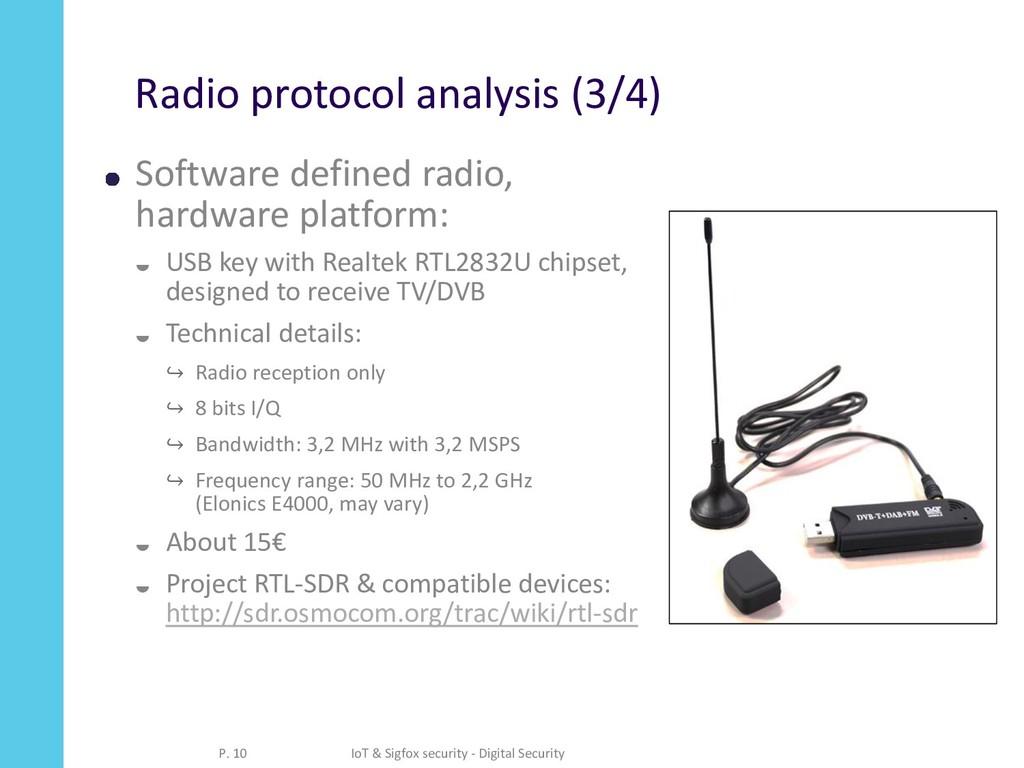 Radio protocol analysis (3/4) Software defined ...
