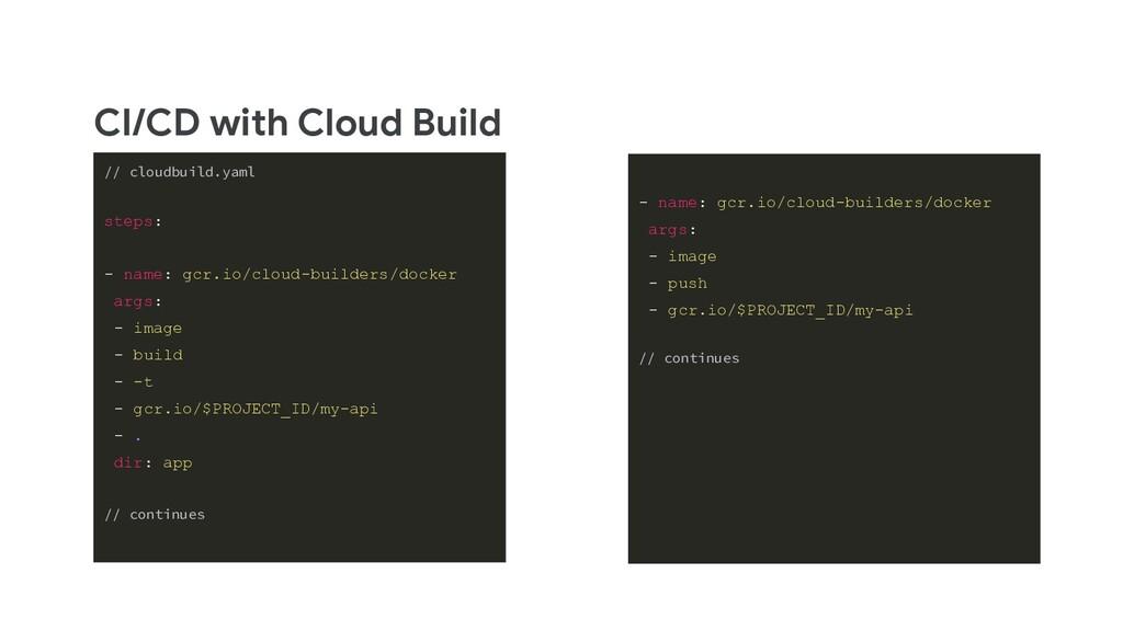 CI/CD with Cloud Build // cloudbuild.yaml steps...