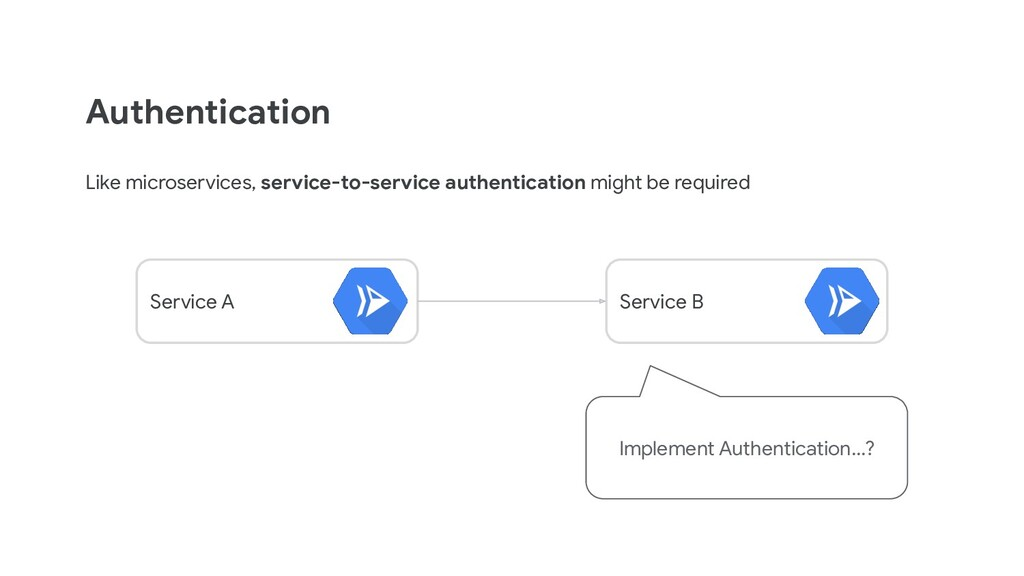 Authentication Like microservices, service-to-s...