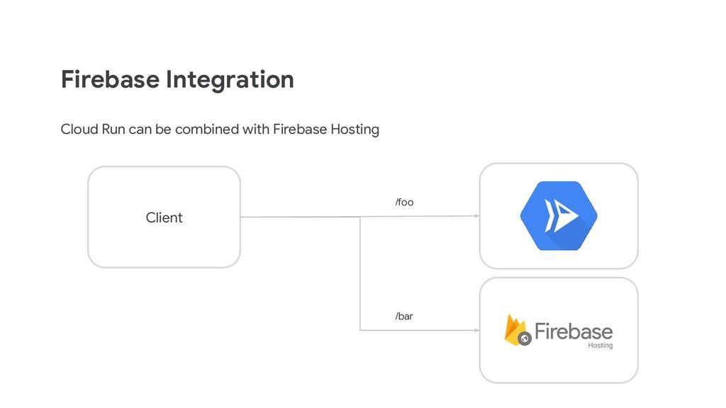 Firebase Integration Cloud Run can be combined ...