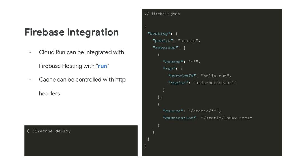 Firebase Integration - Cloud Run can be integra...