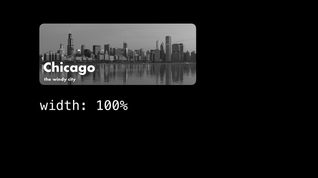 Chicago the windy city width: 100%