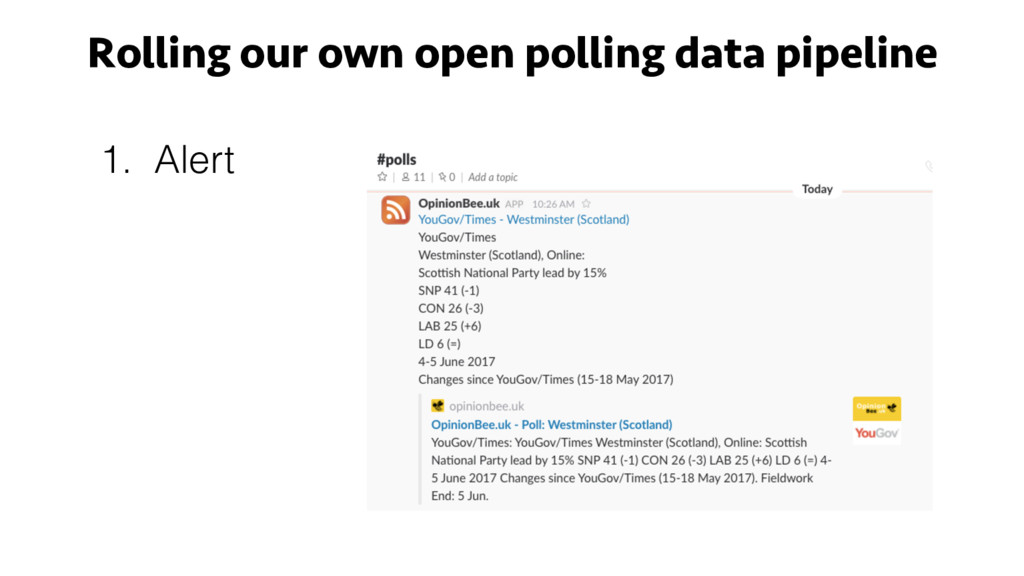 Rolling our own open polling data pipeline 1. A...