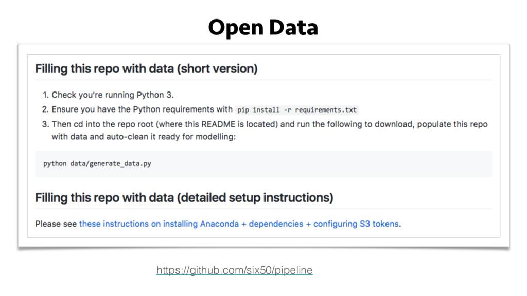 Open Data https://github.com/six50/pipeline