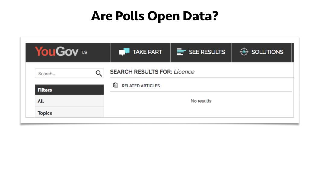Are Polls Open Data?