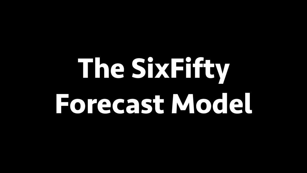 BREAK INTO DATA SCIENCE The SixFifty Forecast M...