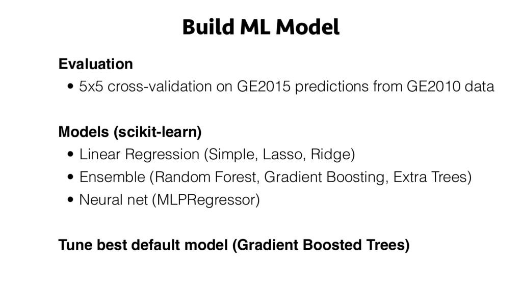 Build ML Model Evaluation • 5x5 cross-validatio...