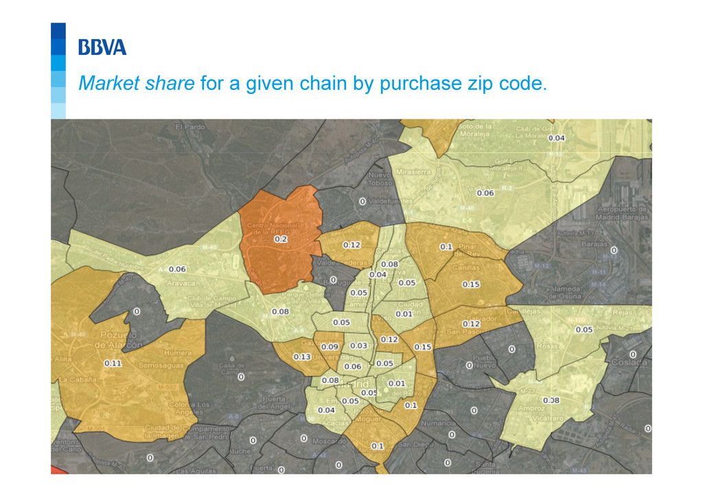 25 Market share for a given chain by purchase z...