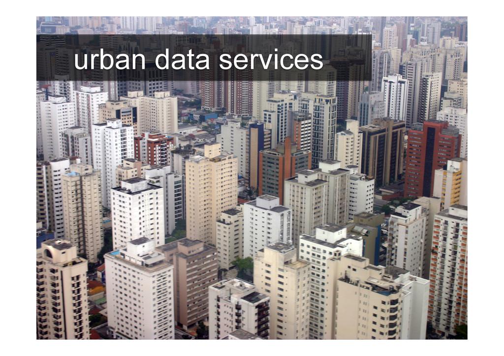 urban data services