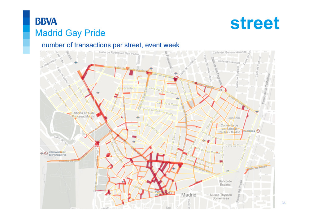 33 number of transactions per street, event wee...