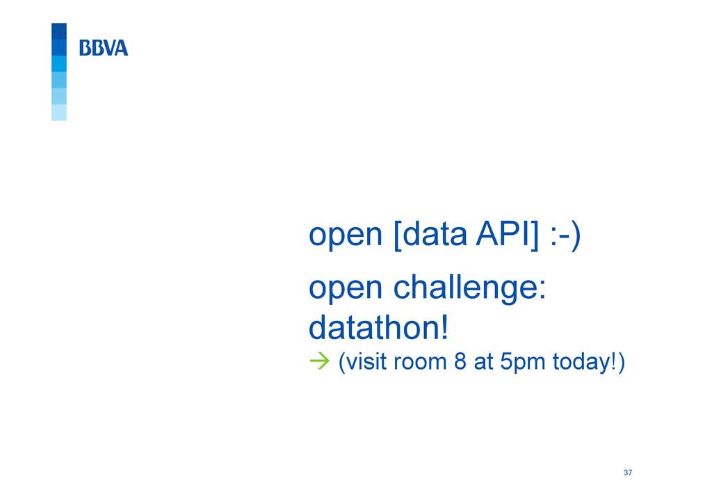37 open [data API] :-) open challenge: datathon...