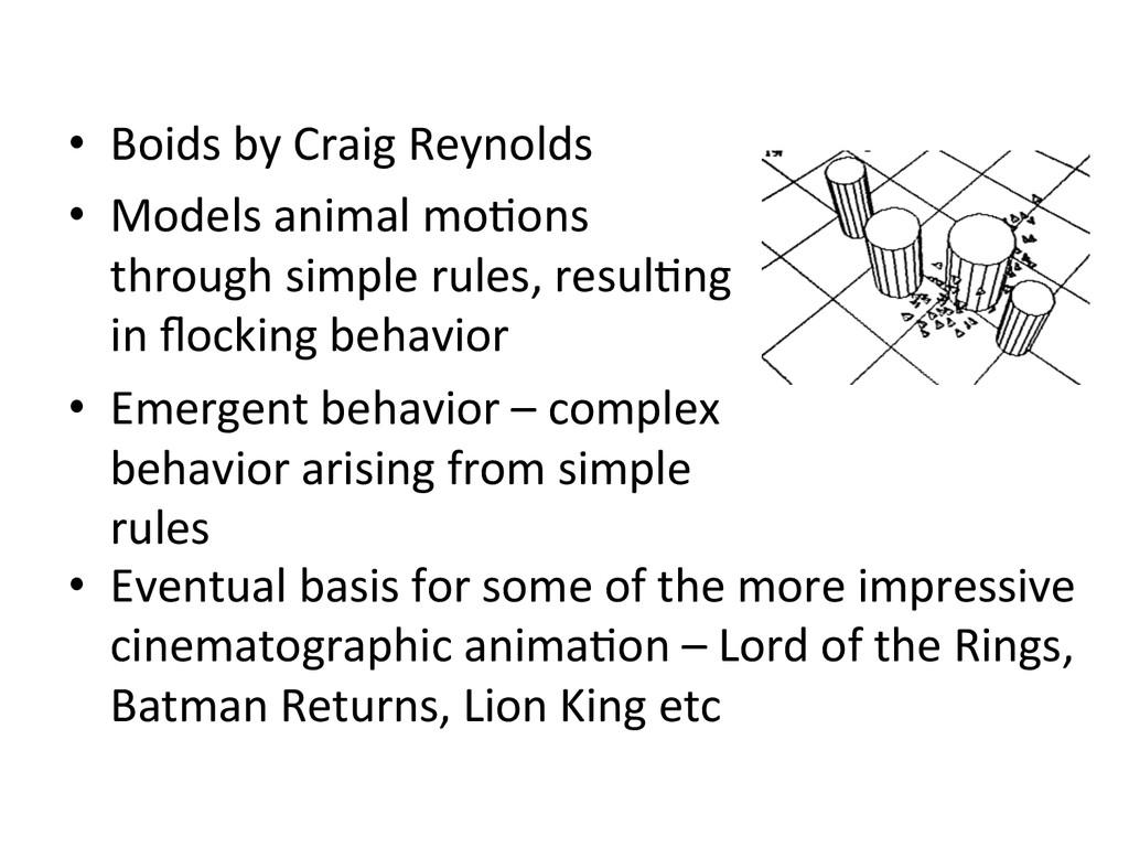 • Boids by Craig Reynolds  • Mode...