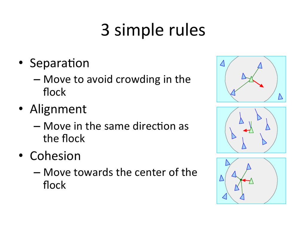 3 simple rules  • Separa0on  –Mov...