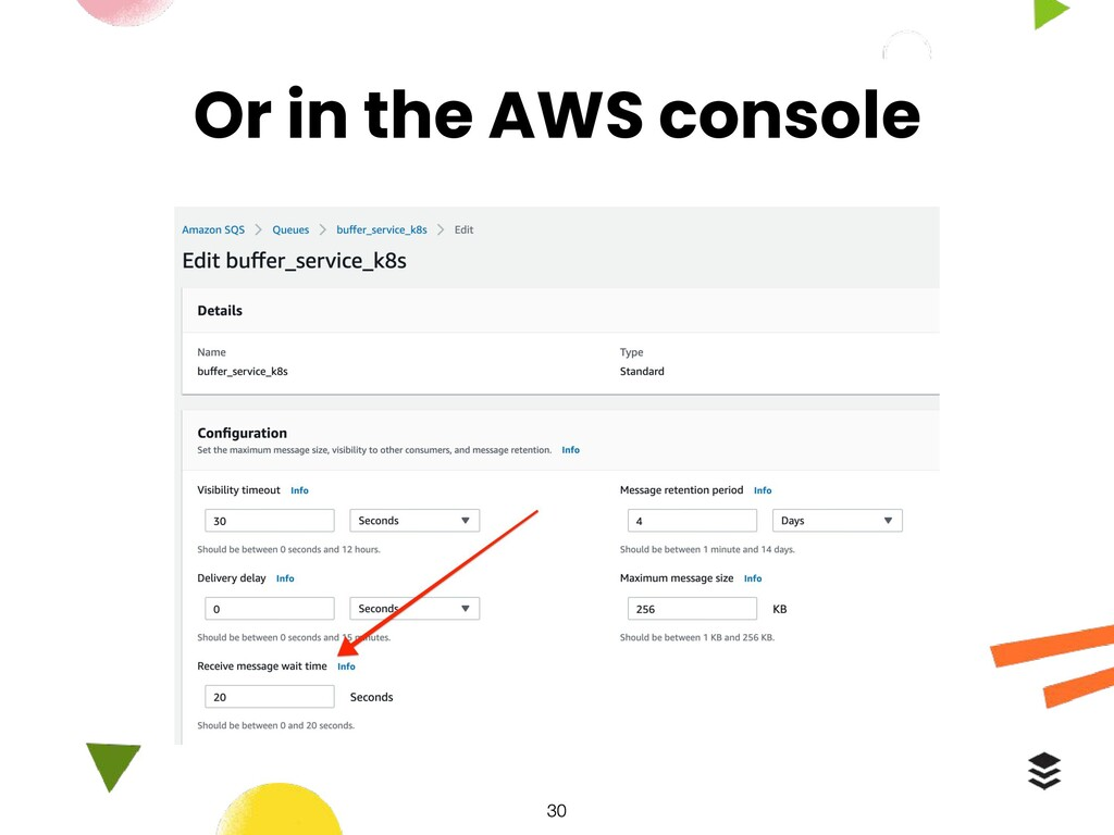 Or in the AWS console