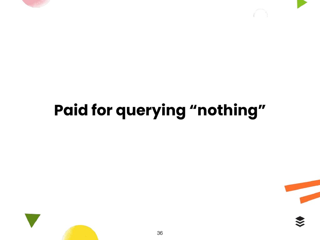 "Paid for querying ""nothing"""