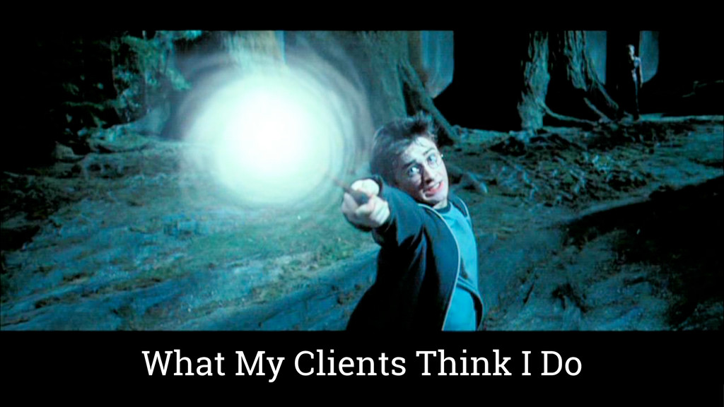 What My Clients Think I Do