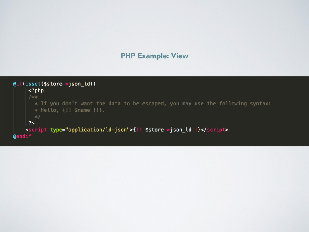 PHP Example: View