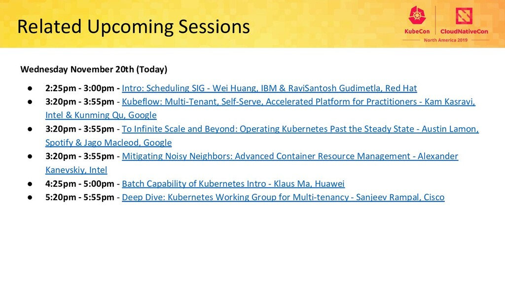 Related Upcoming Sessions Wednesday November 20...