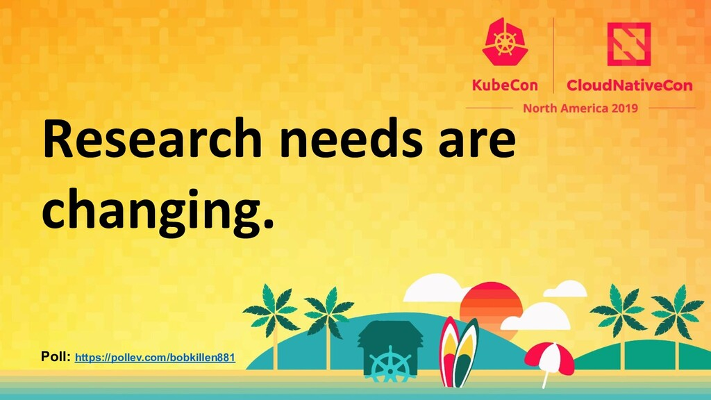Research needs are changing. Poll: https://poll...