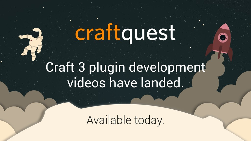 Craft 3 plugin development videos have landed. ...